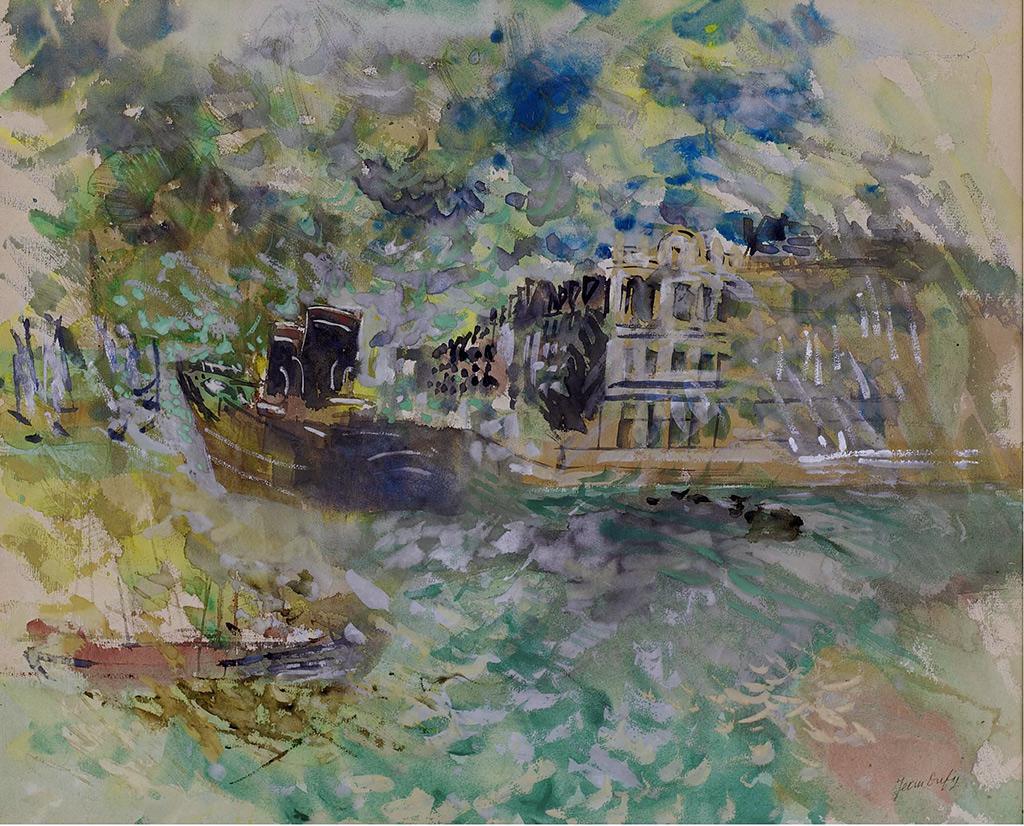 ???? Jean Dufy - The Le Havre Port, angle Southampton Quay and Notre Dame Quay
