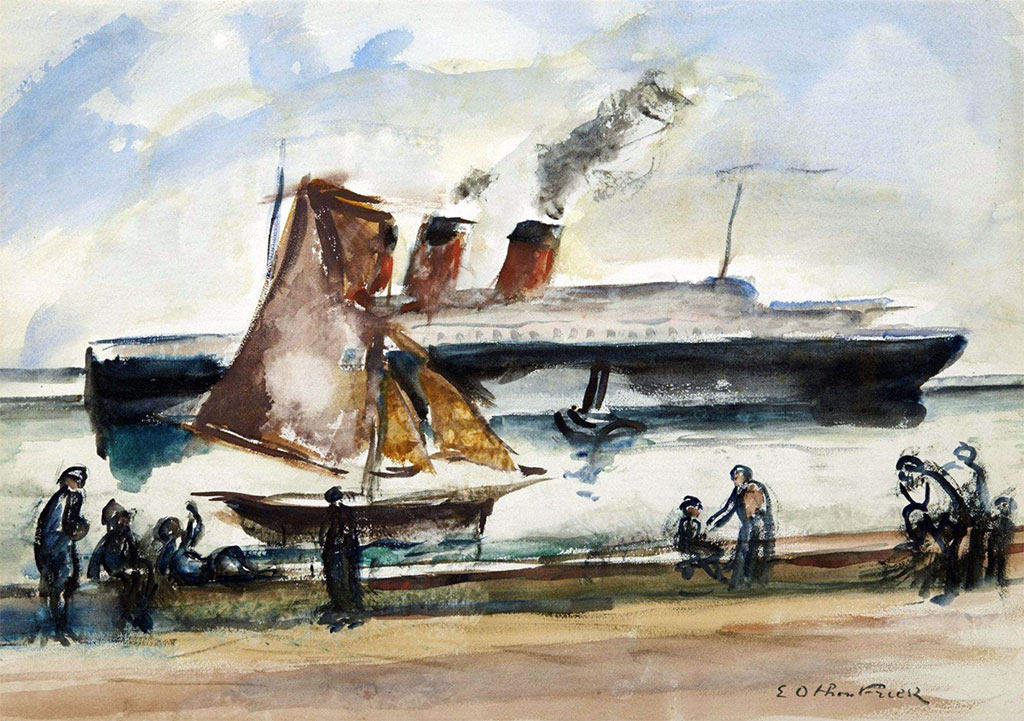 ???? - Othon Friesz - Arrival of the Normandy at Le Havre