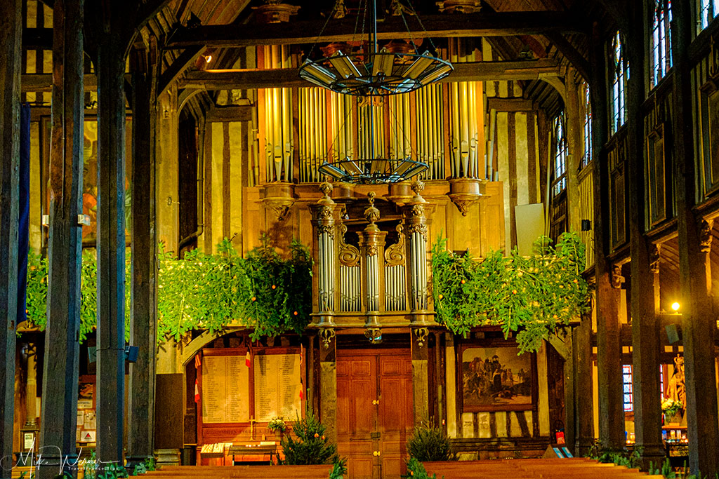 The organ of the Saint-Catherine church in Honfleur, Normandy
