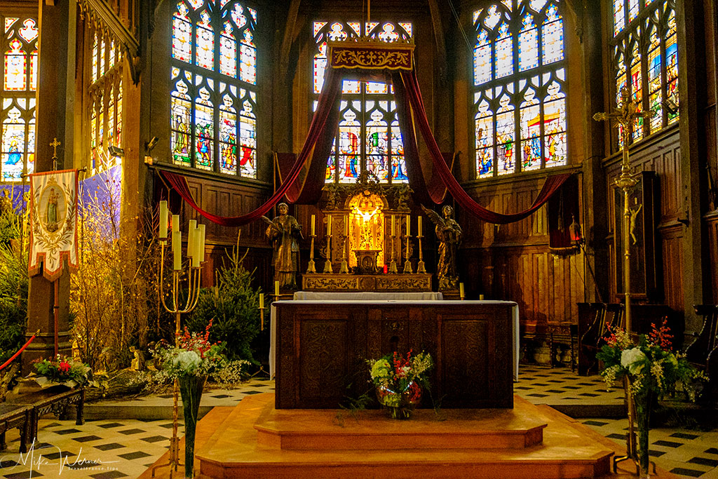 The altar of the Saint-Catherine church in Honfleur, Normandy