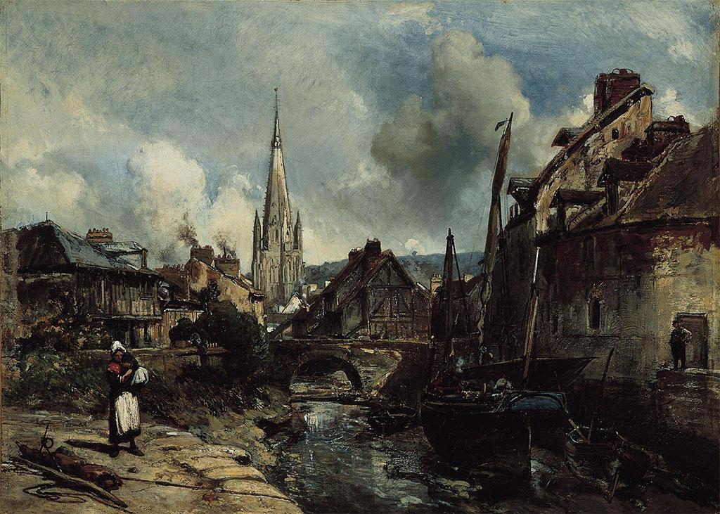 1852 Johan Jongkind - View of Harfleur