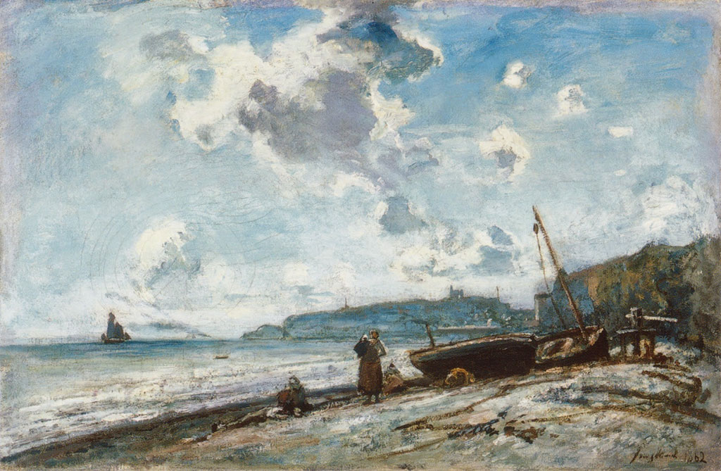 1862 Johan Jongkind - The Beach at Sainte-Adresse