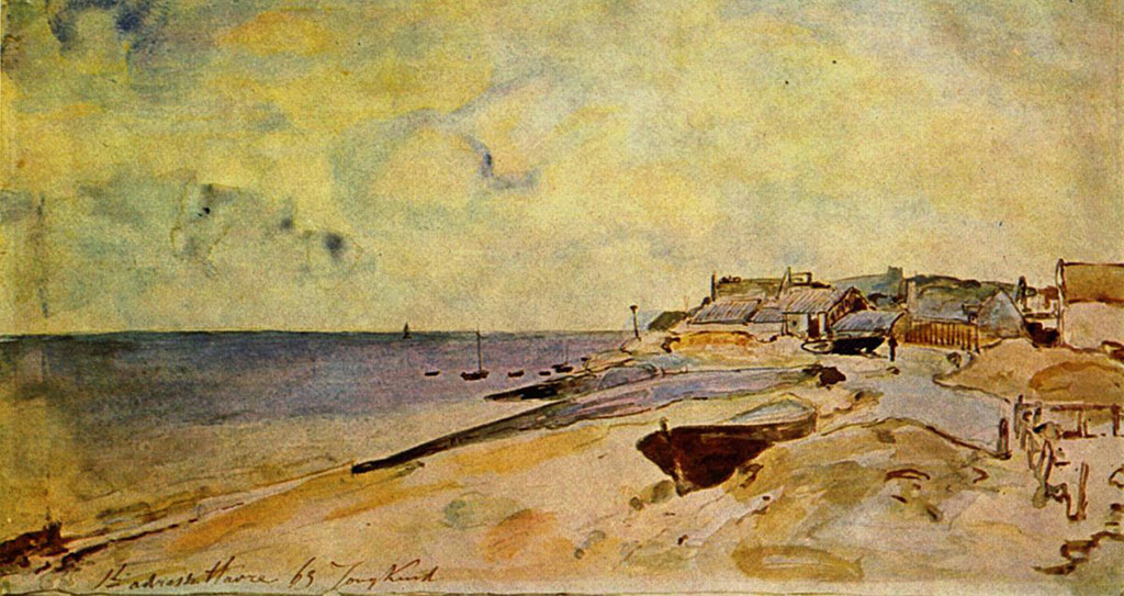 1863 Johan Jongkind - The Beach at Sainte-Adresse