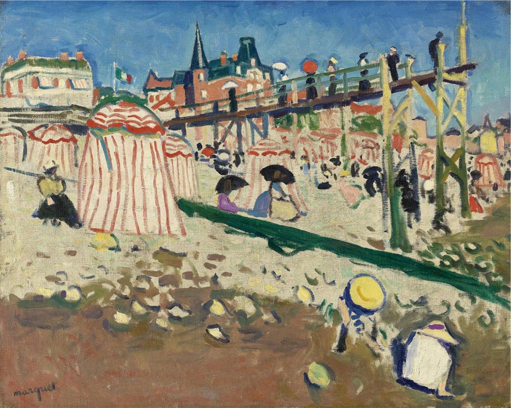 1905 Albert Marquet - The Beach at Sainte-Adresse