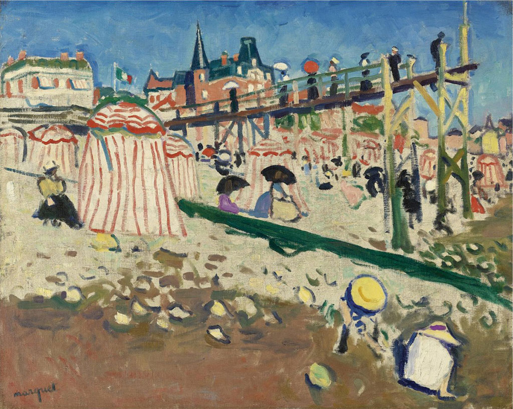 1905 Albert Marquet - The Beach at Sainte-Adresse