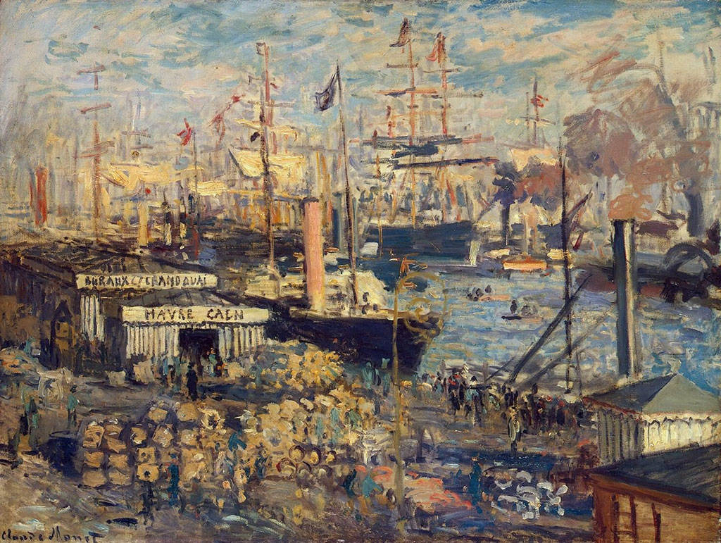 1874 Claude Monet - The Grand Quay