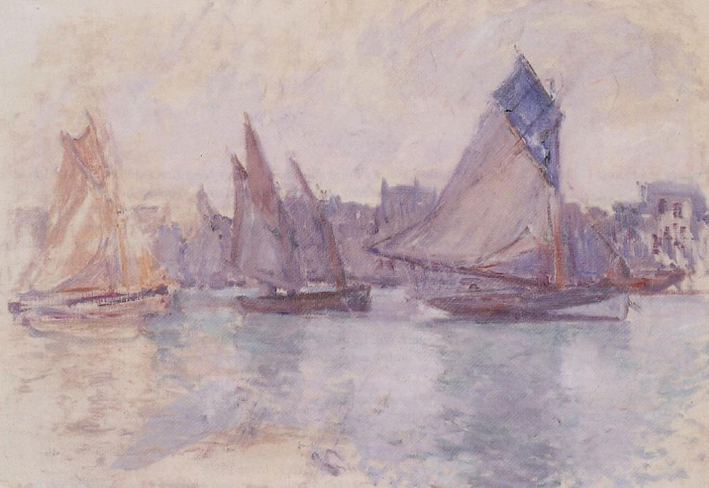 1883 Claude Monet - Boats in the Port of Le Havre