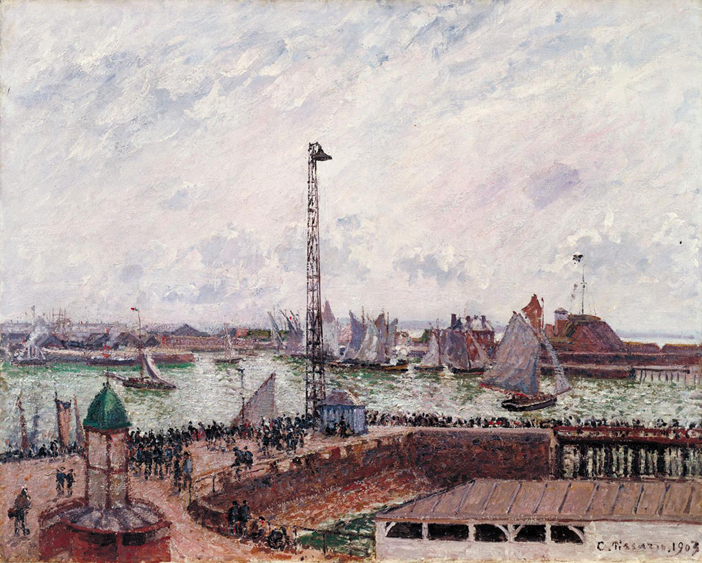 Camille Pissarro 1903 - Pilot's Jetty, Morning Cloudy and Misty Weather