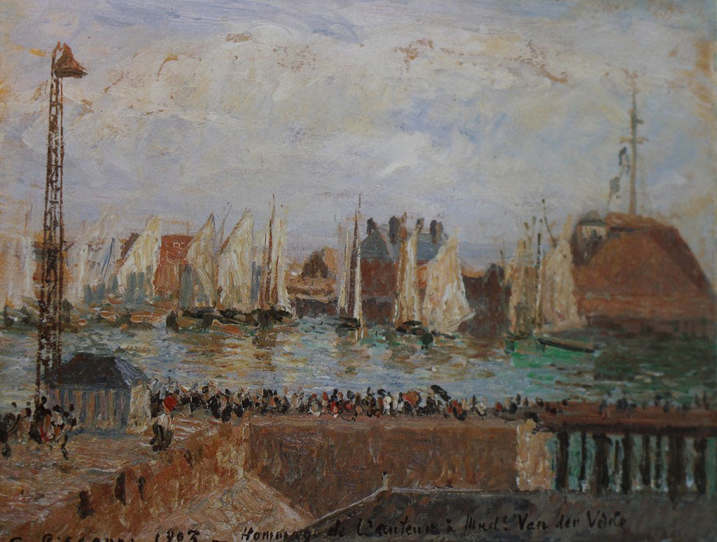 Camille Pissarro 1903 - Regates in the Port Fort of Florida