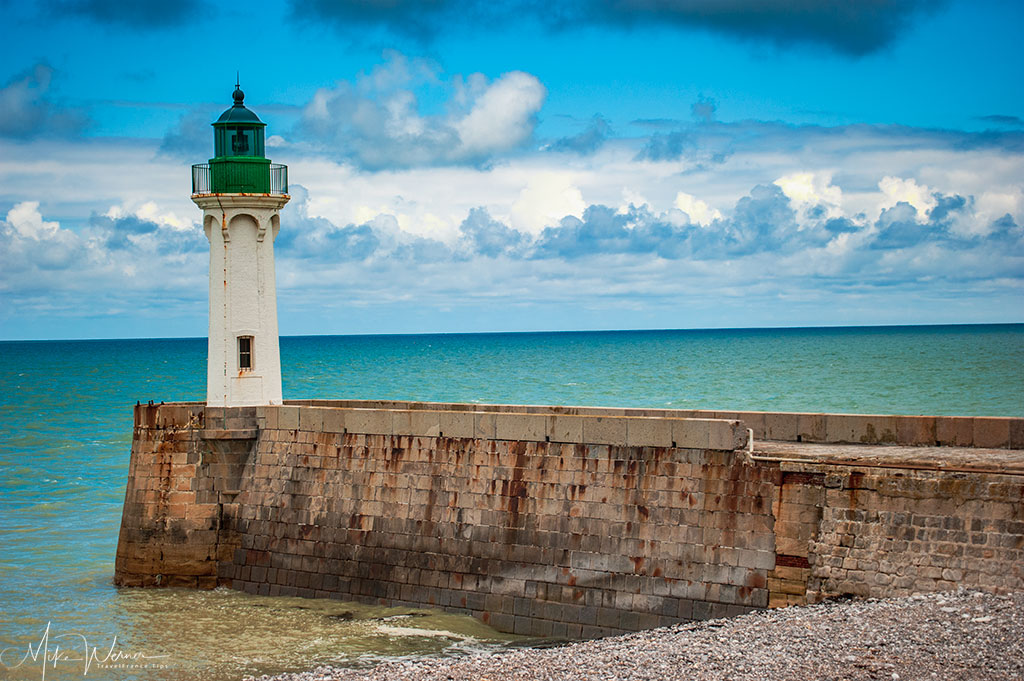 The Saint-Valery-en-Caux lighthouse in Normandy
