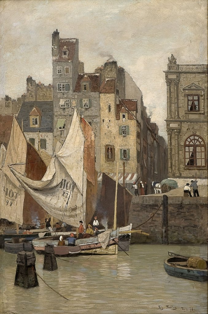Fritz Thaulow 1878 - High Tide, Le Havre