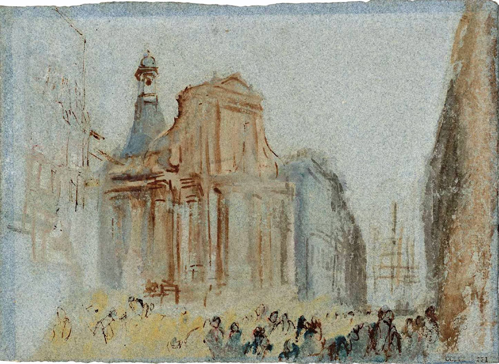 William Turner 1832 - The Church of Notre Dame