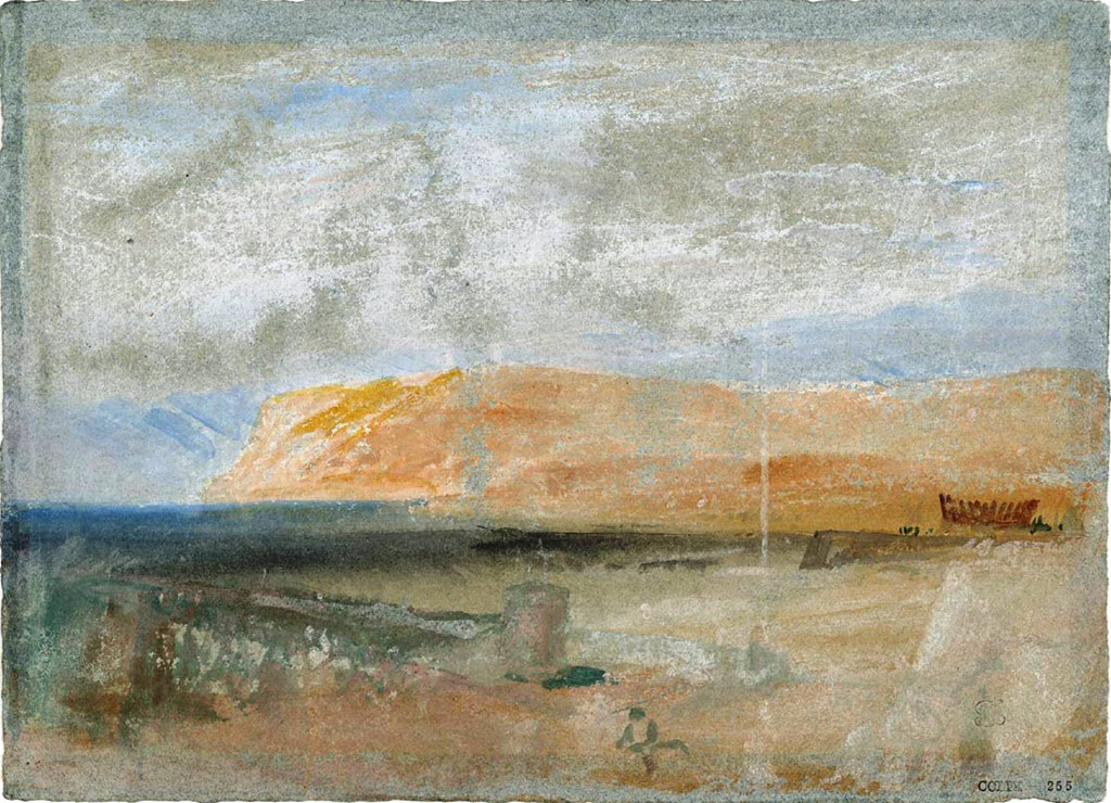 William Turner 1832 - View from Le Havre of the Cap de la Heve