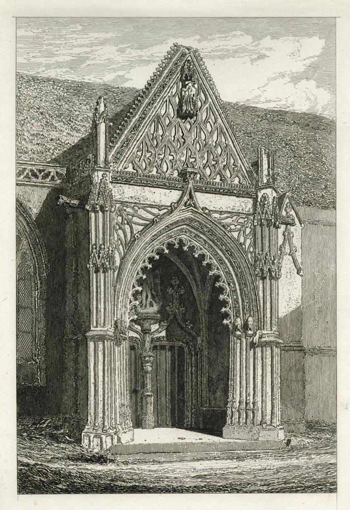 John Cotman 1822 -Church of St-Michel-de-Vaucelles, Caen North Porch