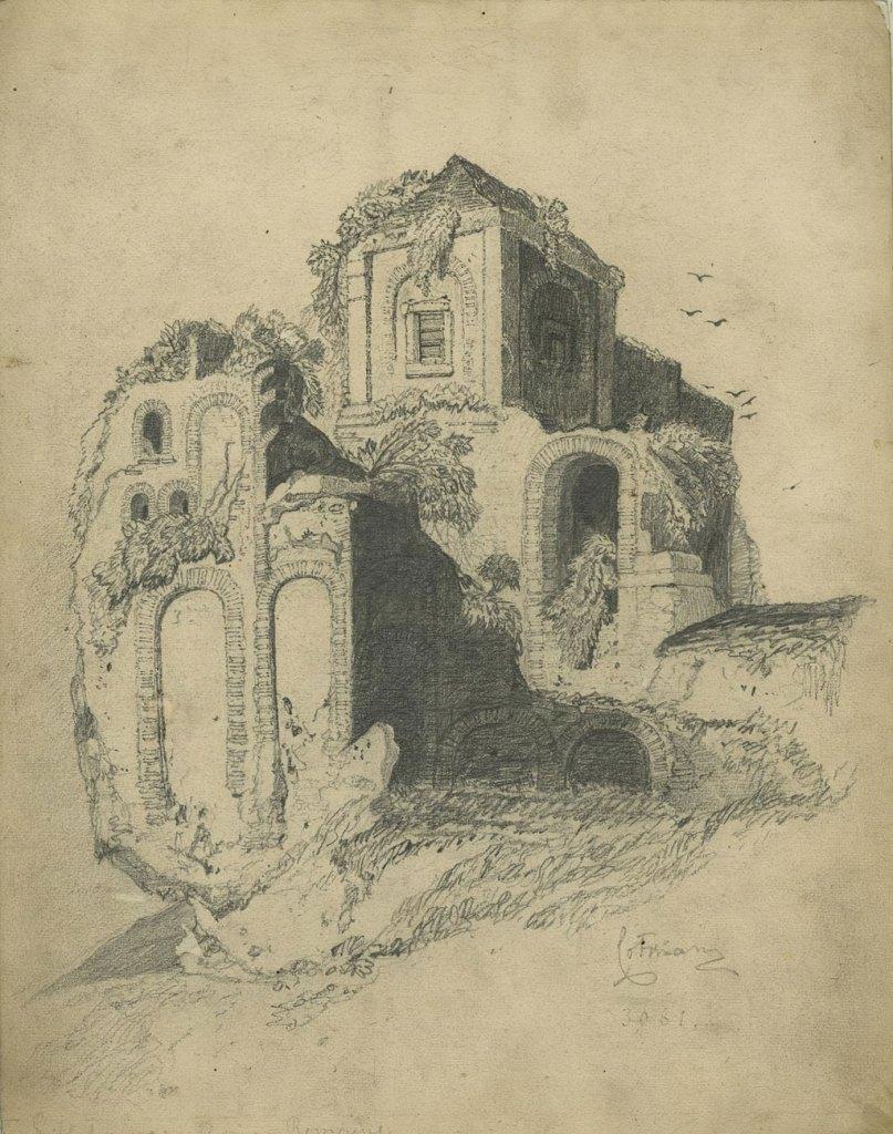 ???? John Cotman - Lillebonne, Roman Remains