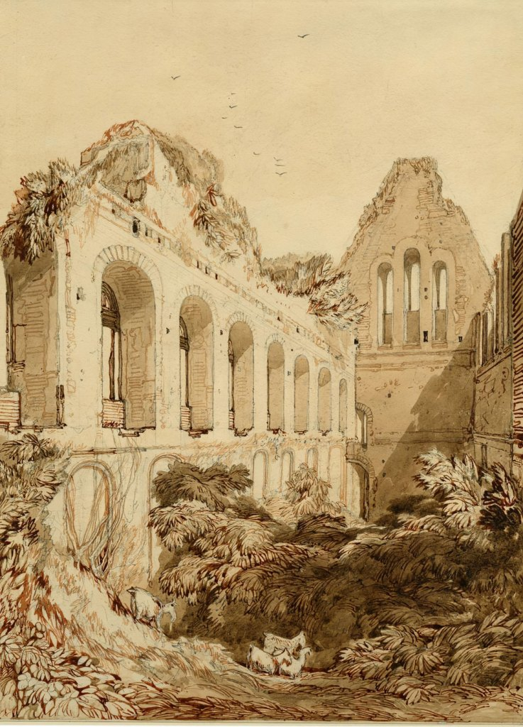 ???? John Cotman - Ruins of the Hall in the Castle of Lillebonne