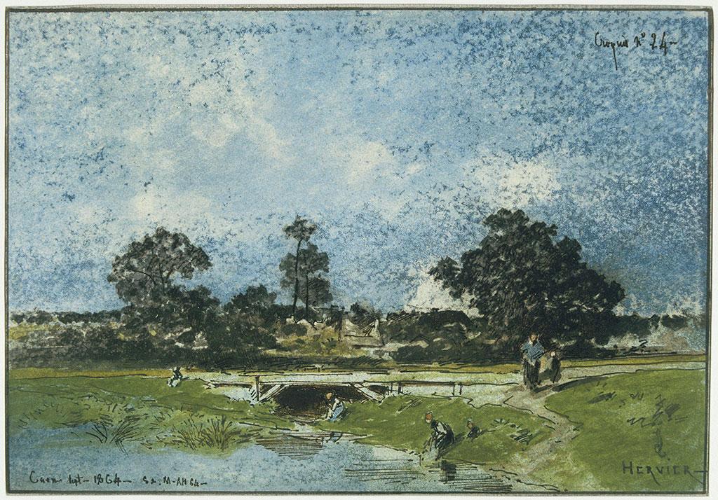 Louis Hervier 1864 - Washing Women at Caen