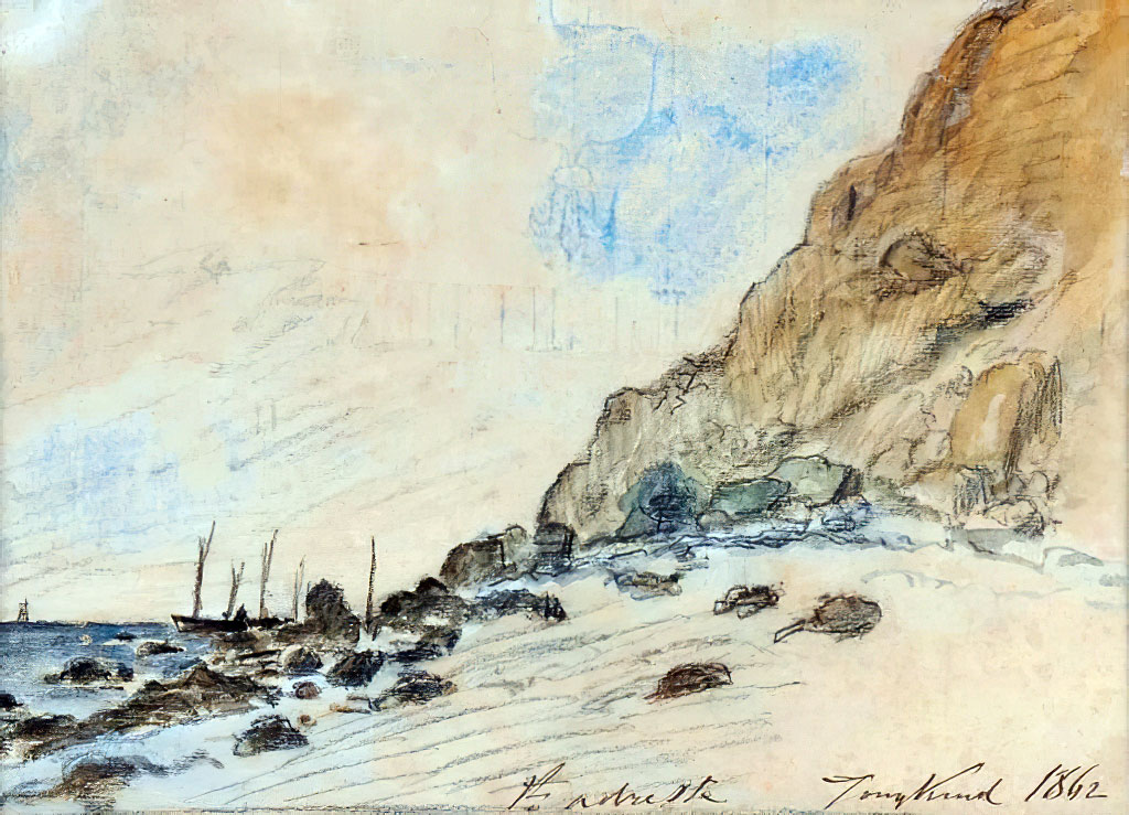 1862 - Johan Jongkind - Saint-Adresse, Normandy