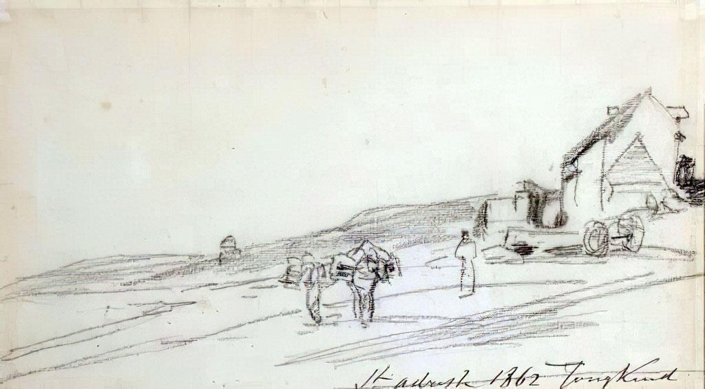 1862 - Johan Jongkind - The beach at Sainte-Adresse