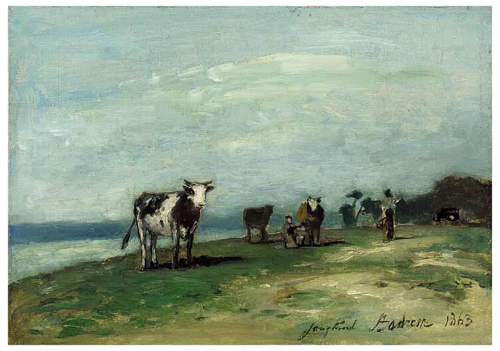 1863 - Johan Jongkind - Seaside at Sainte-Adresse