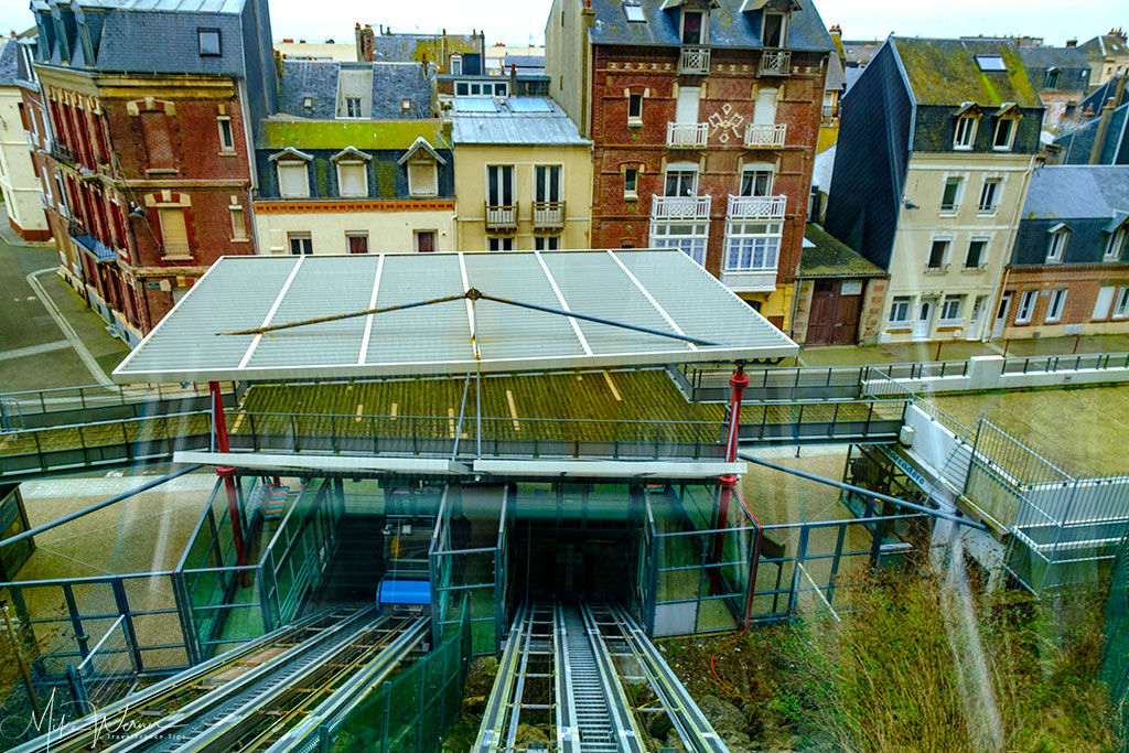 The funicular station at the bottom in Le Treport