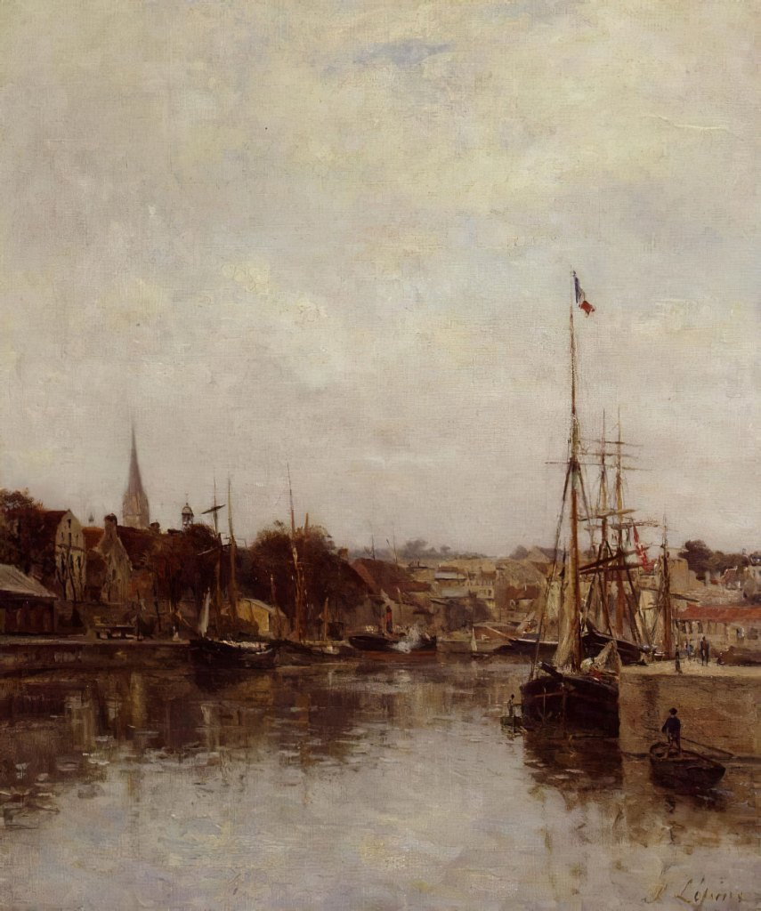 1860 Stanislas Lepine - Caen, the Dock of Saint-Pierre