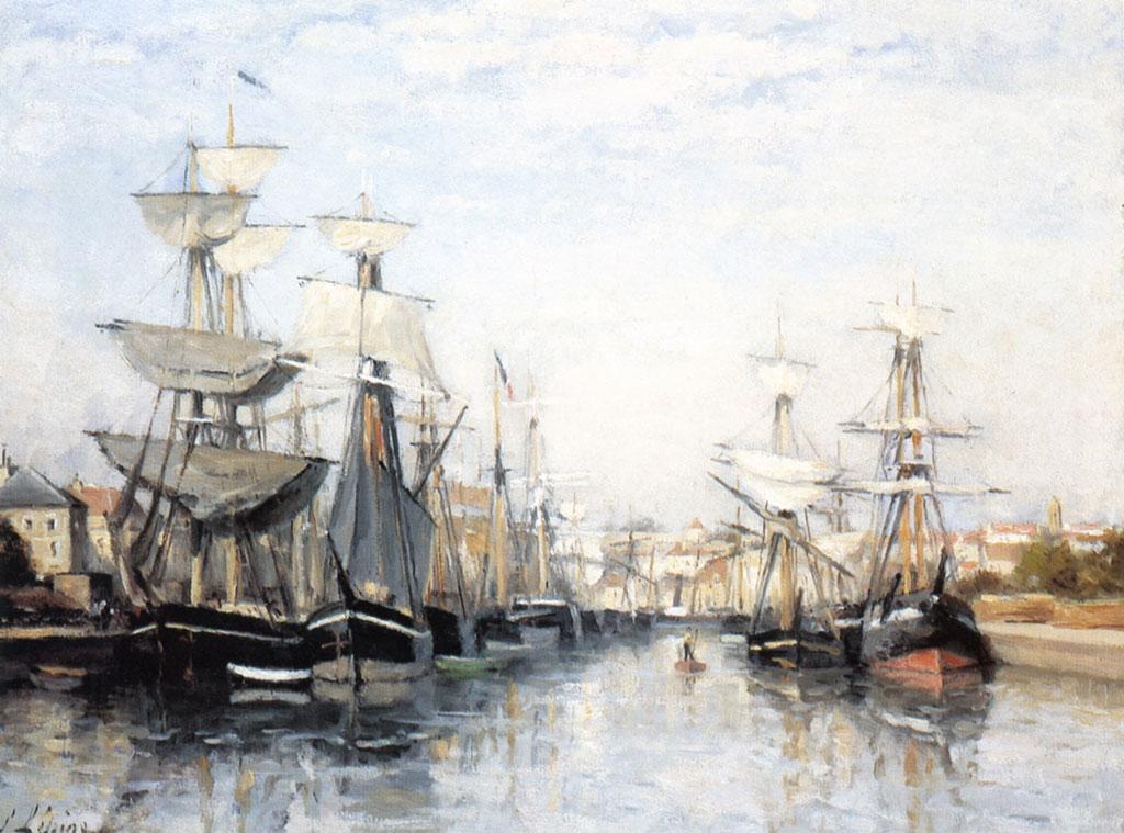 1863 Stanislas Lepine - Caen, the Saint-Pierre Harbor
