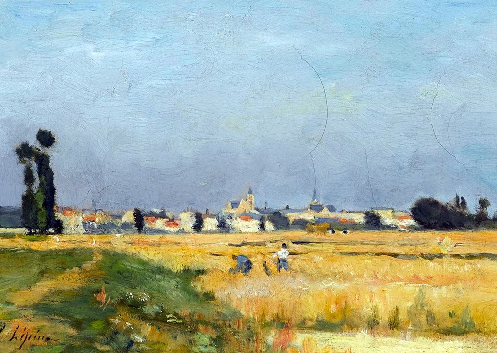 1877 - Stanislas Lepine  - Harvesting in the vicinity of Caen