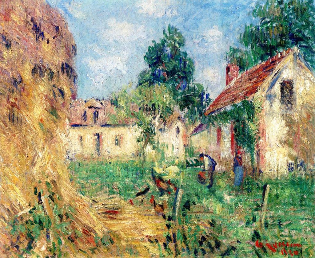 1928 Gustave Loiseau  - Small Farm near Caen