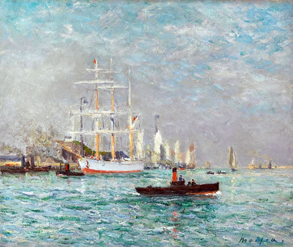 1905 - Maxime Maufra - Entry of a three master, Le Havre
