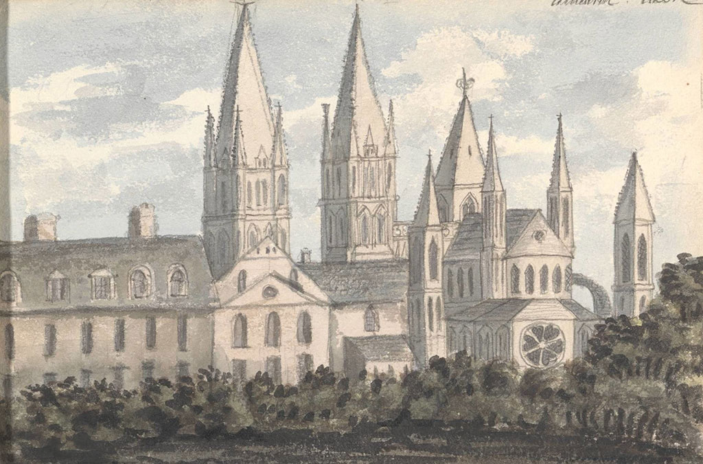 Anne Rushout 1824 - Cathedral, Caen