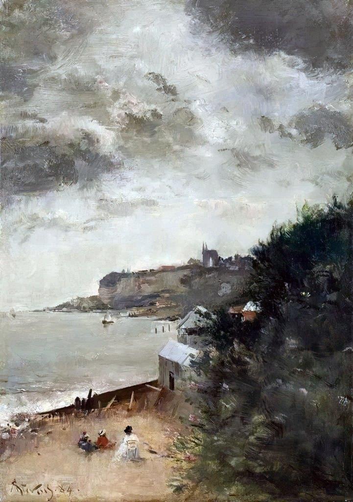 1884 - Alfred Stevens - View of Sainte Adresse, Le Havre