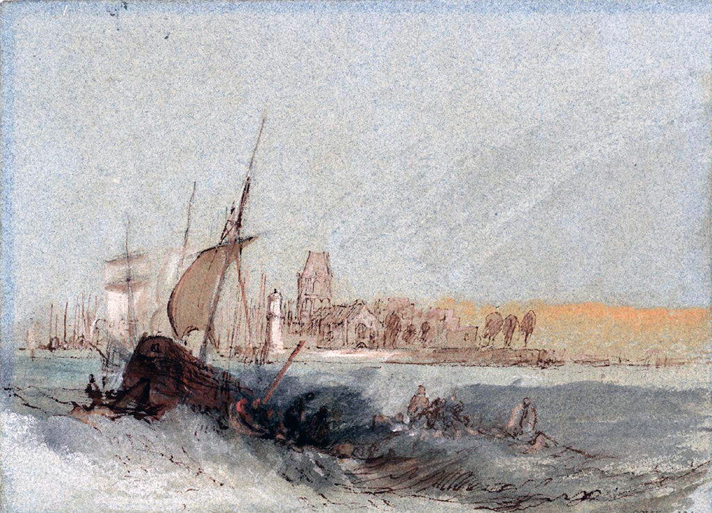 William Turner 1832 - Boats struggling against the current at Quillebeuf, Normandy