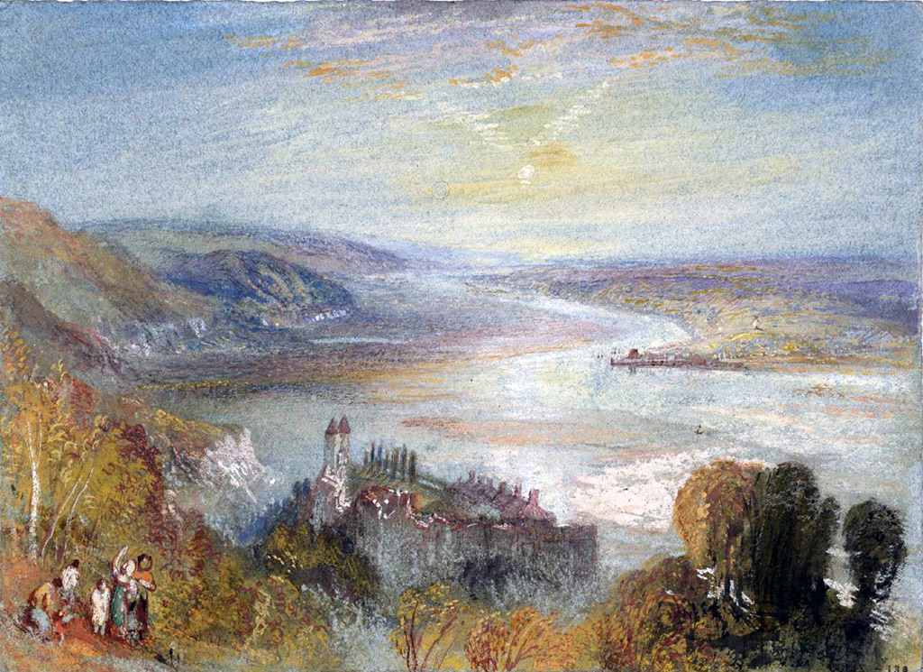 William Turner 1832 - Tancarville, with the Town of Quillebeuf in the Distance