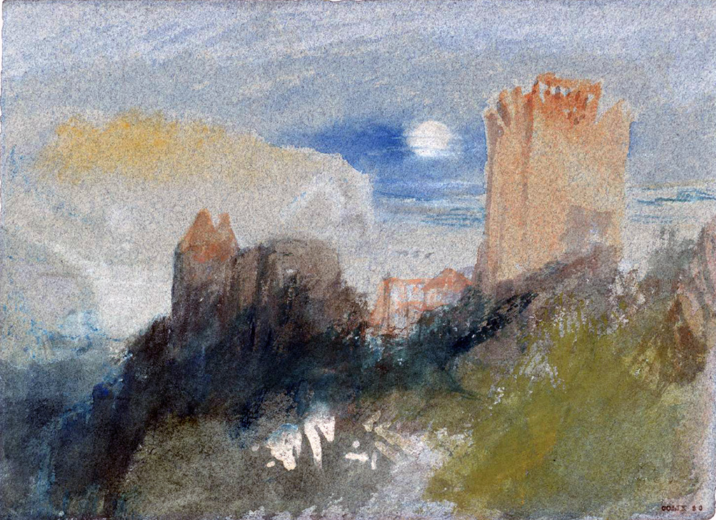 William Turner 1832 - The Castle at Tancarville, Normandy