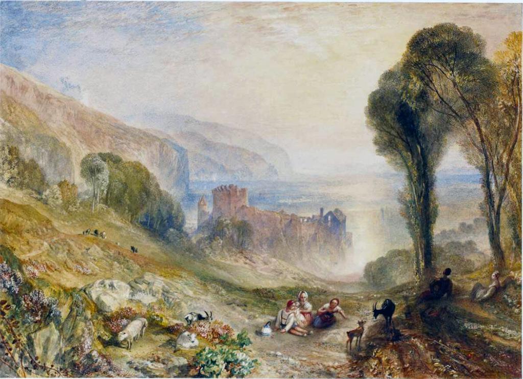 William Turner 1840 - Tancarville on the Seine