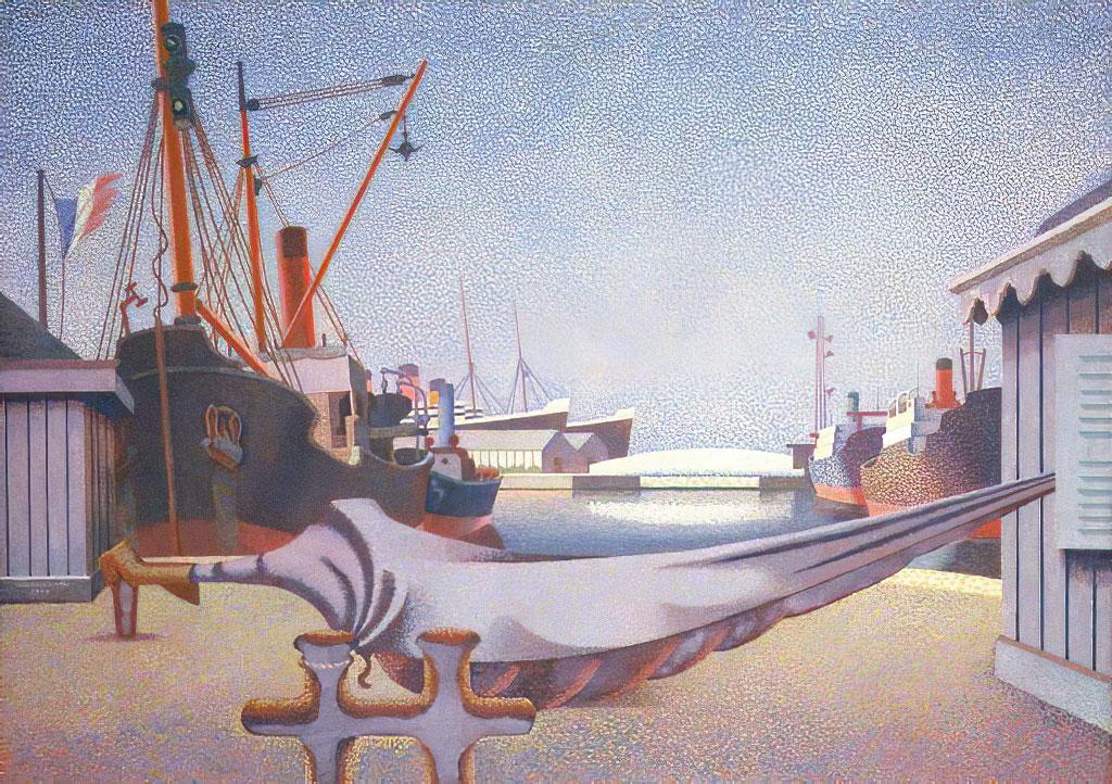 Edward Wadsworth 1930 - Le Havre, France