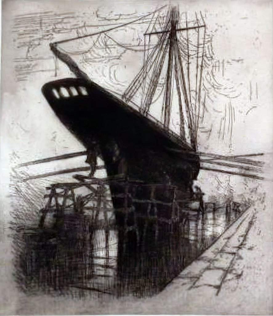 ???? Frank Boggs - Marine, Le Havre, in the Dry Docks