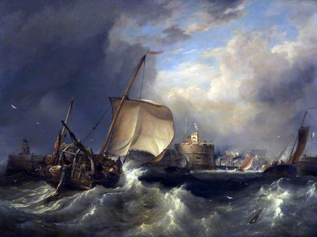 1840 Edward Cooke - Off the Port of Havre