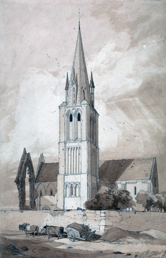 1820 - John Sell Cotman - Douvres Church, Normandy