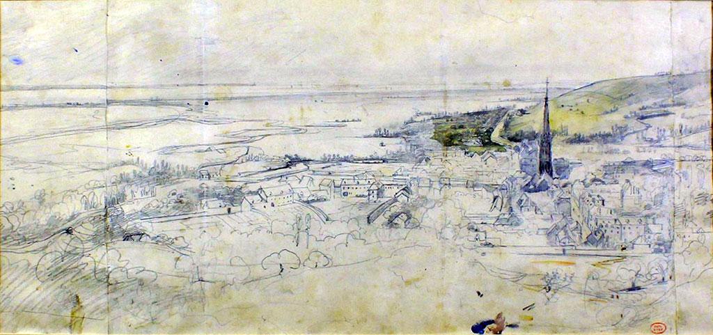 ????- Paul Huet - View of Harfleur