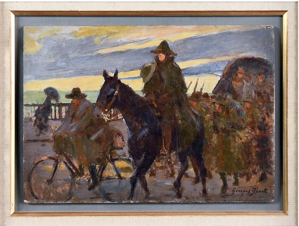 1916 - George Binet - The Arrival of the Americans at Le Havre