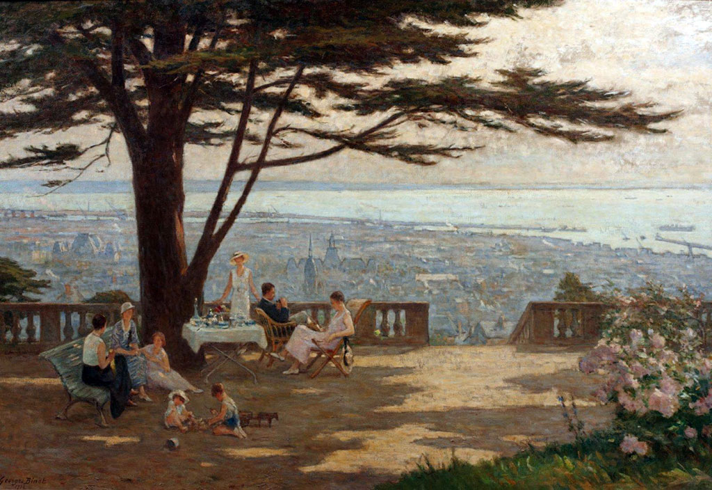 1934 - George Binet - Terrace overlooking Le Havre