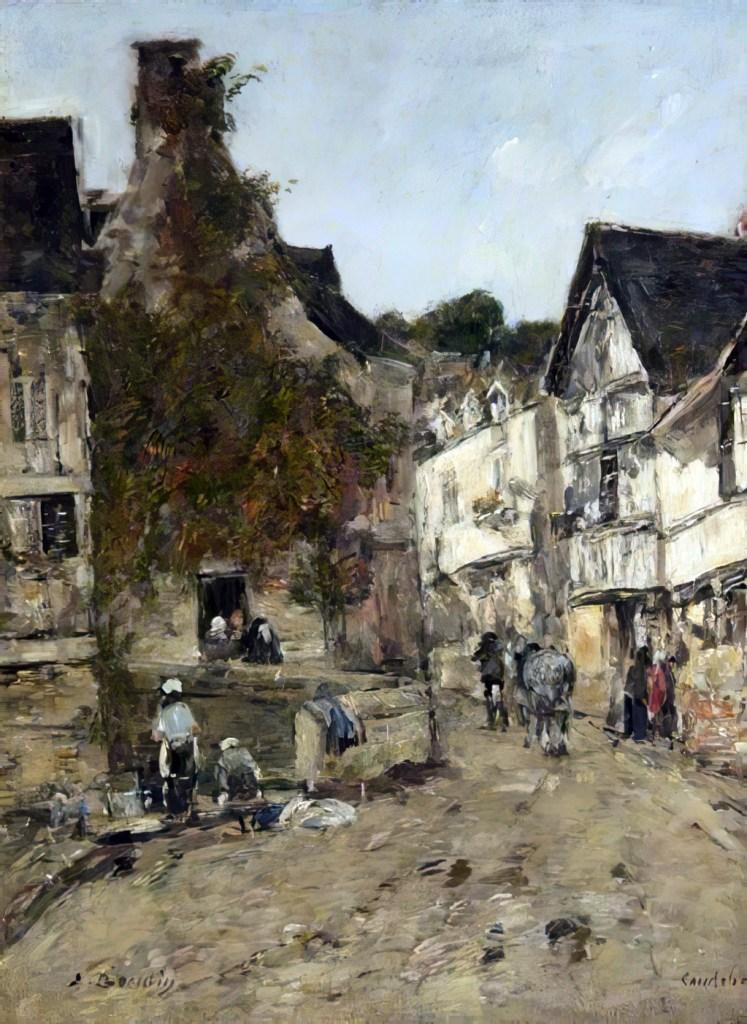1889 - Eugene Louis Boudin - A Street in Caudebec-en-Caux