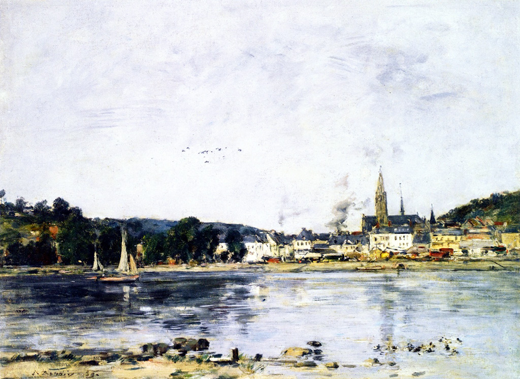 1889 - Eugene Louis Boudin - Caudebec-en-Caux, the Quay on the Seine