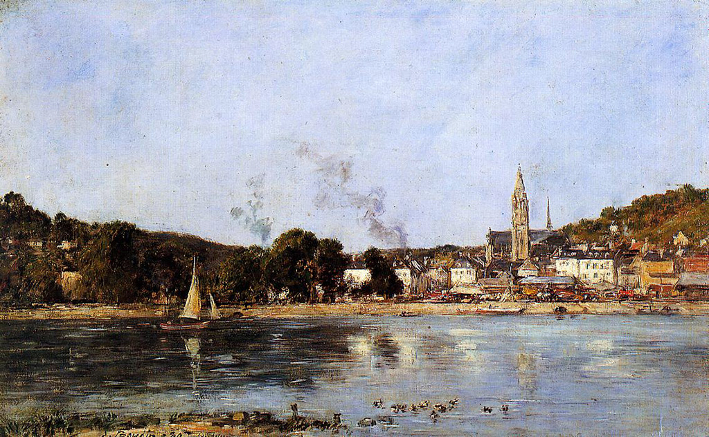 1889 - Eugene Louis Boudin - The Seine at Caudebec-en-Caux