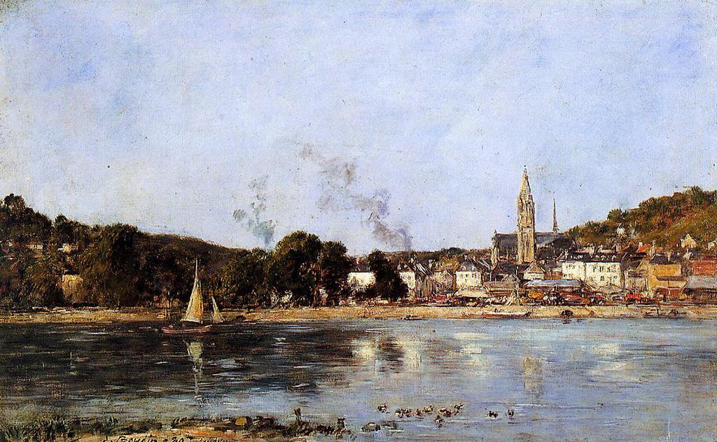 1889 - Eugene Louis Boudin - The Seine at Caudebec-en-Caux
