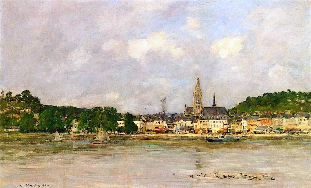 1892 - Eugene Louis Boudin - Caudebec-en-Caux, the Quay on the Seine