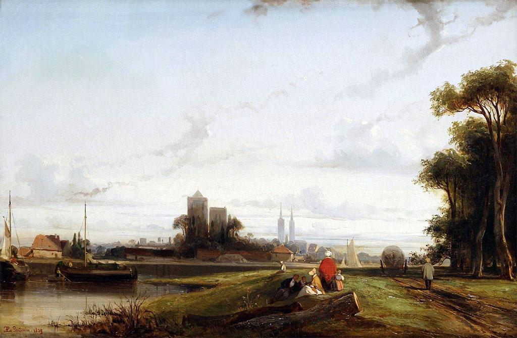 1839 - Eugene Lepoittevin - View of Caen