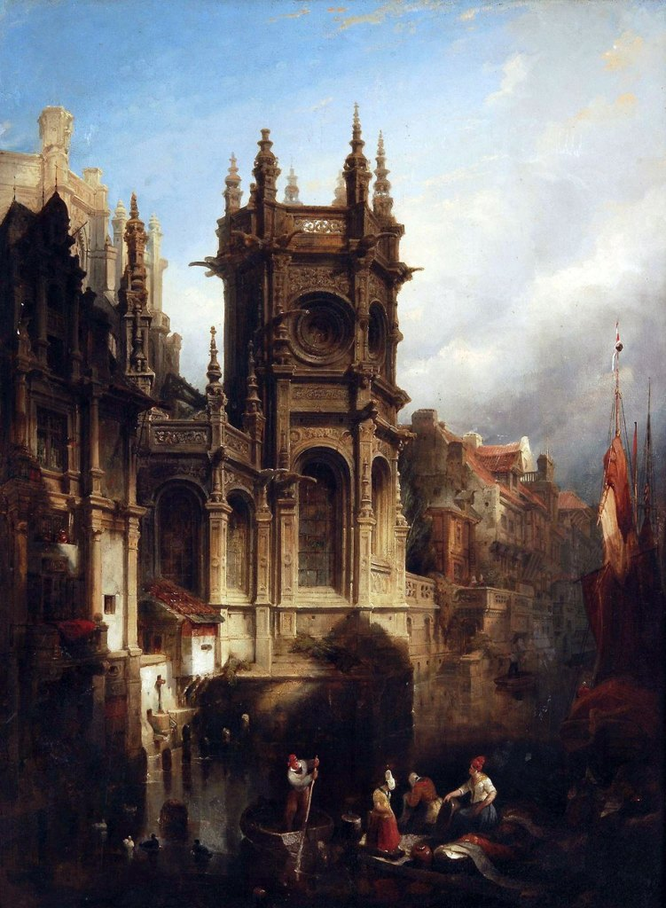 ???? - David Roberts - The Lady Chapel at the Church of St-Pierre, Caen